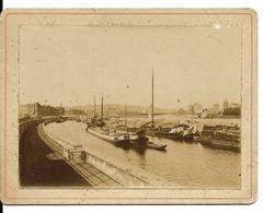 Liège  Pont Du Commerce (actuellement Appelé Le Pont Albert) Qui Relie « Les Terrasses » à Outremeuse Photo Sur Carton - Liege