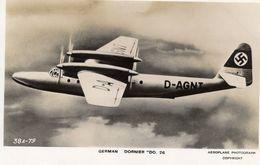 Dornier DO 26  -  CPSM - Valentine's Aircraft Recognition Card - 1939-1945: 2a Guerra