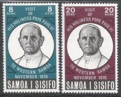 Samoa. 1970 Visit Of Pope Paul To Samoa. MH Complete Set. SG 358-359 - Samoa