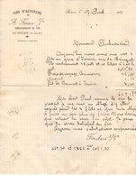 63 AUBIERE COURRIER 1912  Vins D' AUVERGNE FONTEIX * A16 - 1900 – 1949