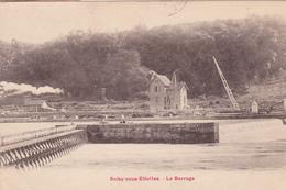 91. SOISY SOUS ETIOLLES. CPA. LE BARRAGE. ANNEE 1923 + TEXTE - Francia