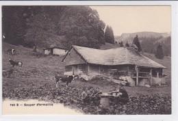 Motélon, Chalet De La Froide-Fontaine ? Souper D'armaillis, Vaches, Saloir - FR Fribourg