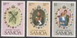 Samoa. 1981 Royal Wedding. MNH Complete Set. SG 599-601 - Samoa