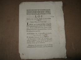 LOI RELATIVE EMISSION DES ASSIGNATS 100 MILLIONS 1791 HISTOIRE ECONOMIE REVOLUTION CAEN - ...-1889 Anciens Francs Circulés Au XIXème