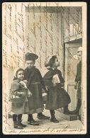 ECOLE - 3 Enfants Devant La Porte De L'Ecole  -CPA 1904 Postée En ESPANA -recto Verso- Paypal Sans Frais - Schools