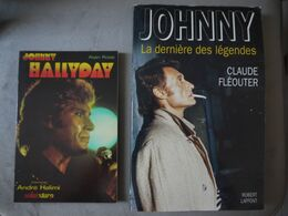JOHNNY HALLYDAY   ALAIN ROSSI   ANDRE HALIMI  SOLAR STAR LA DERNIERE DES LEGENDES  FLEOUTER LOT DE 2 LIVRES - Altri