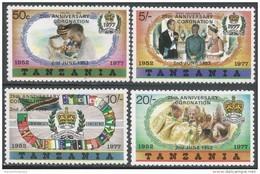 Tanzania. 1978 25th Anniv Of Coronation. MNH Complete Set. - Tanzania (1964-...)
