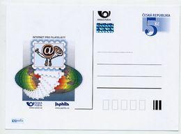 CZECH REPUBLIC 2000 5 Kc Internet For Philatelists Unused.  Michel P54-A2 - Postal Stationery