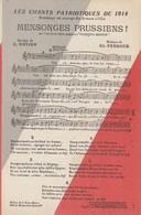 CARTE POSTALE. LES CHANTS PATRIOTIQUES DE 1914. HOMMAGE AU COURAGE DES ARMÉES ALLIÉES. Ed. PERROUD / 2 - War 1914-18