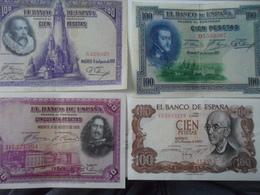 Espagne Spain Espana LOT 4  BILLETS En Pesetas - [ 2] 1931-1936 : Republic
