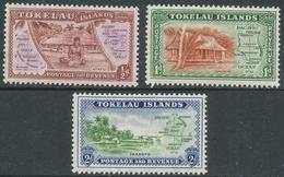 Tokelau Islands. 1948 Definitives. MH Complete Set. SG 1-3 - Tokelau