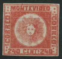 Uruguay (1858) N 6 Sans Gomme Signé - Uruguay