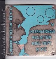 OLYMPISCHE KLASSEN. INTERNATIONALE REGATTEN KIEL 1971-TBE-BLEUP - Firma's