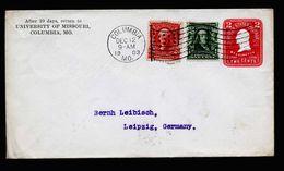 A5248) US Brief Von Columbia 12.12.1903 N. Leipzig Mit Sauberem Flaggenmaschinenstempel - Briefe U. Dokumente