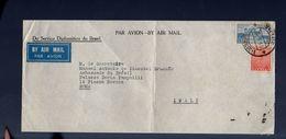 1955 R-Consulate Embassy India To Palacio Itamaraty Rio (amb-12) - Lettres & Documents