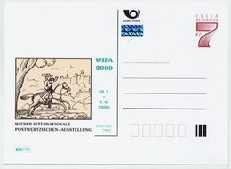 CZECH REPUBLIC 1999 7 Kc Postcard WIPA 2000  Unused.  Michel P41 II-A4 - Postal Stationery