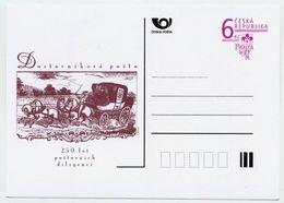CZECH REPUBLIC 1998 6 Kc Postcard Praga '98 Post Coach Unused.  Michel P37 - Postal Stationery