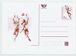 CZECH REPUBLIC 1997 6 Kc Postcard Women's Volleyball Championship Unused.  Michel P30 - Postal Stationery