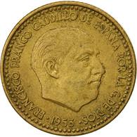 Monnaie, Espagne, Francisco Franco, Caudillo, Peseta, 1953, TTB - [ 5] 1949-… : Royaume