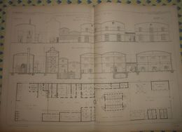 Plan De Fabrique De Graisses Pour Voitures Et Huiles Minérale à Ivry. Seine. Exploitées Par M. Haentjens Et Cie. 1866 - Public Works