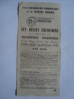 LES BELLES EXCURSIONS AU DÉPART DE TROUVILLE-DEAUVILLE. LES COURRIERS NORMANDS ET LES AUTOCARS FOURNIER - NORMANDIE 1956 - Toeristische Brochures