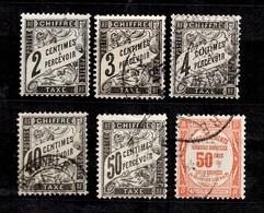 France Timbres-taxe YT N°11, 12, 13, 19, 20 Et 47 Oblitérés. B/TB. A Saisir! - Taxes
