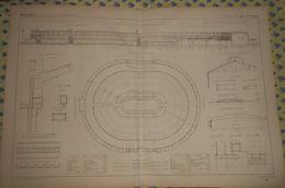 Plan Du Palais De L'Exposition Universelle De 1867. 1866 - Public Works