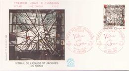 FRANCE FDC DU 22 NOVEMBRE 1986 REIMS CROIX ROUGE FRANCAISE - FDC