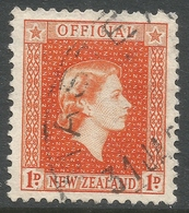 New Zealand. 1954 QEII Official. 1d Used. SG O159 - Officials
