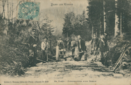 88/FOLKLORE VOSGES,  Dans Les Vosges, En Forêt - Construction D'un Chemin (Edition C. Thomas, Celles-sur-plaine) - Andere Gemeenten