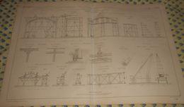 Plan Du Palais De L'Exposition Universelle De 1867. Levage Des Fermes. 1866 - Public Works