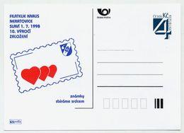 CZECH REPUBLIC 1998 Filatelie Kraus Privately-printed  Postcard Unused. - Postal Stationery