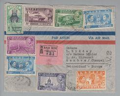 "Afrika Ethiopie Aethiopien 1950-03-16 Addis-Abeba R-Brief ""A.V.Z."" - Ethiopie"