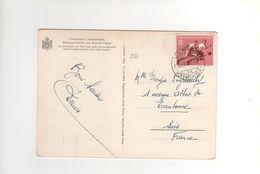 "Timbre Yvert N°284 "" Football ""sur Cp , Carte , Postcard Du 23 VIII 54 Pour La France - Liechtenstein"