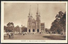 CPA VIETNAM - Saïgon, Sortie De La Messe à La Cathédrale - Vietnam