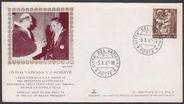 "Vatican 1967, Illustrated Cover ""Brasil President Visit Popr Paul VI"" W./postmark ""Citta De Vaticano"" - Lettres & Documents"