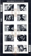 South Africa - 2014 Popular Musicians Sheet (o) - Afrique Du Sud (1961-...)