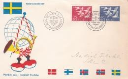 Sweden FDC 1956 Norden (SKO15-27) - FDC