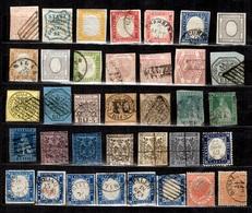 Anciens Etats Italiens Et Italie  Petite Collection De Classiques 1850/1875. Bonnes Valeurs. A Saisir! - Etats Pontificaux