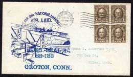 """US Navy, USS""""SEAL"""" (SS-183) Keel Laid 1936,Hutnick-Cachet, Look Scan, RARE !! 15.3-59 - Textil"""