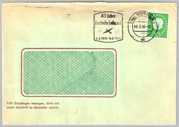 40 AÑOS CORREO AEREO EN ALEMANIA - 40 Years German Airmail. Goppingen 1959 - Correo Postal