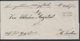 "TCHECOSLOVAQUIE - 1853 - Pli Marque Linéaire ""ZWITTAU 3.IIOM"" TB - (Sans Texte) - Tchécoslovaquie"