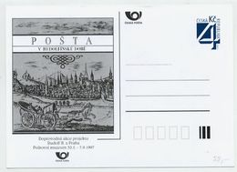 CZECH REPUBLIC 1997 Postcard The Post In The Time Of Rudolf II Unused.  Michel P26-B2 - Postal Stationery