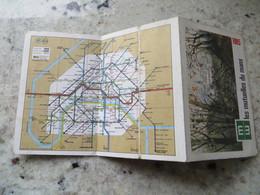 Calendrier 1985 Format Poche Plan Du Métro R E R  Paris Publicité Assurances Les Mutuelles Du Mans - 3 Volets - - Kalender