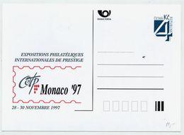 CZECH REPUBLIC 1997 Postcard MONACO '97 Unused.  Michel P26-A8 - Postal Stationery