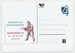 CZECH REPUBLIC 1997 Postcard Sindelfingen '97 Unused.  Michel P26-A6 - Postal Stationery