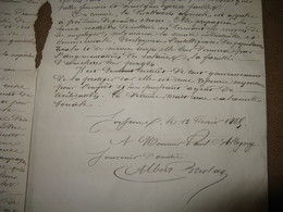 """RARE MANUSCRIT SIGNE ALBERT BRIOLAY Sur """"DE LA DISTILLATION AGRICOLE"""" 1865 AGRICULTURE ARDECHE D'ALBIGNY - Autographes"""