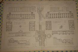 Plan De L'Hôpital Militaire Thermal D'Amélie Les Bains. Pyrénées Orientales.1866 - Public Works