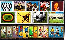 Soccer World Cup 1974 - PARAGUAY - LOT 19v MNH** - Coppa Del Mondo