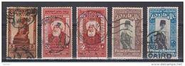 EGITTO:  1927/29  COMMEMORATIVI  -  5  VAL. US. -  YV./TELL. 131//139 - Egitto